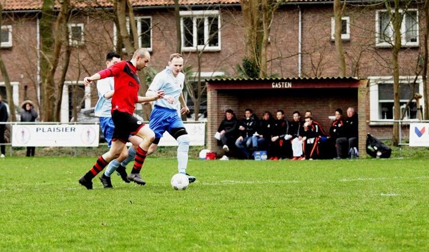 Arjan van den Dool kreeg in de openingsfase een kans om OFB op voorsprong te brengen. De spits faalde in de afwerking.
