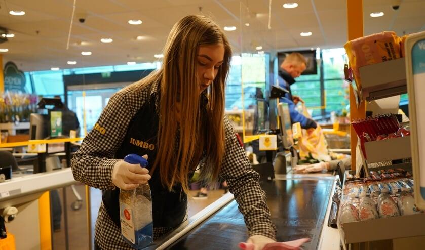 In de Brielse supermarkten zijn extra hygiënische maatregelen genomen.
