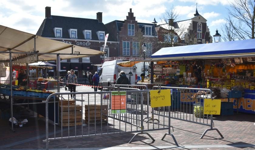 De weekmarkt in Naaldwijk.