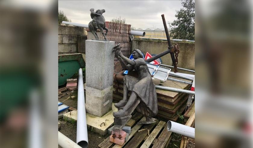 De beelden bevinden zich nu in een gemeentelijke opslagplaats. Foto: (PR)