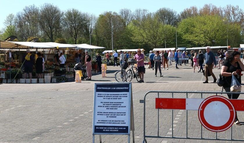 Vanaf zaterdag is de markt weer volledig open.
