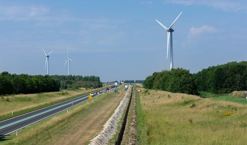 Ingraven kabel WP Blaakweg, fotocredit Foto Deltawind Linde fotografie