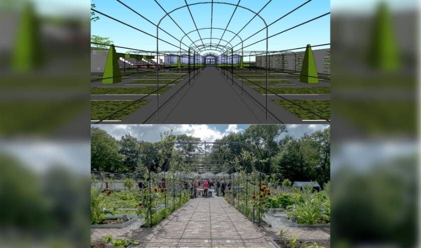 De tuin ten tijde van de opening in 2018.