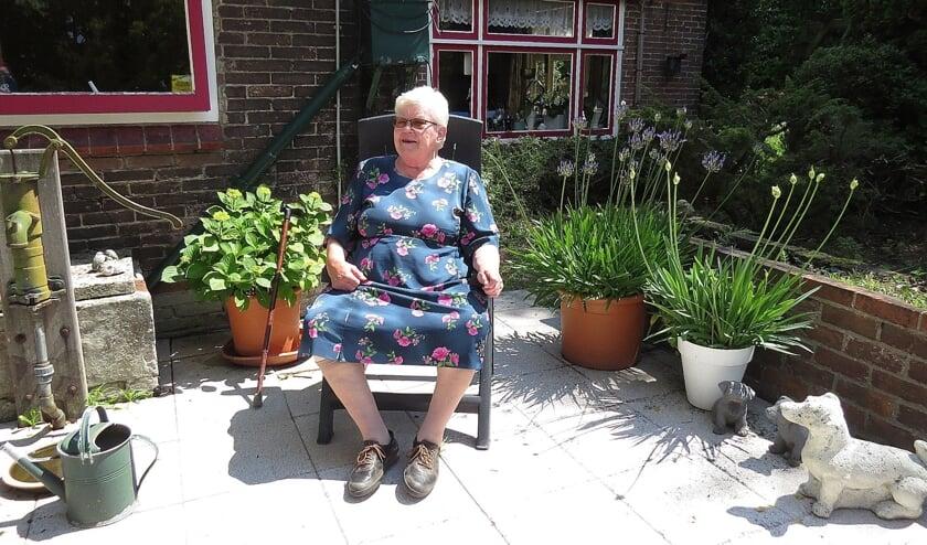 Dien Knöps-Hazelbag woont nog steeds in het huis waar ze ook geboren is