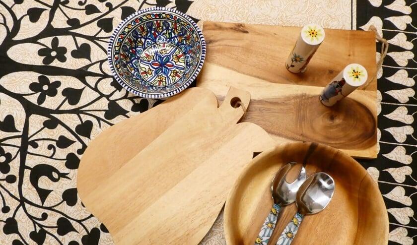 <p>Extra mooi dekt u de tafel met dit handgemaakte slacouvert uit Zuid Afrika.</p>