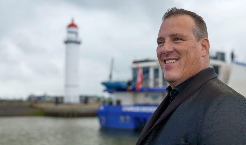 <p>Hellevoetse volkszanger Willem Boot</p>