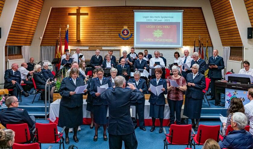 <p>Een van de jubileumactiviteiten was een concert in het Korpsgebouw.&nbsp;</p>