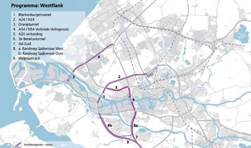 <p>De knelpunten volgens het Masterplan Rotterdam Vooruit.</p>
