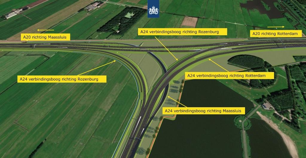 Een deel van de werkzaamheden bij Knooppunt Vlaardingen. Foto: Rijkswaterstaat. Foto: Rijkswaterstaat/webinar © GrootHellevoet.nl