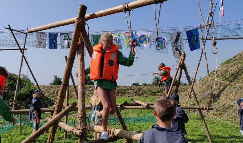 <p>De scouts konden afgelopen zaterdag naar hartenlust klimmen en klauteren.&nbsp;</p>