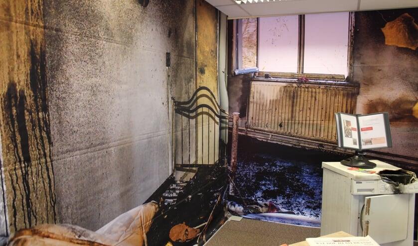 <p>Een slaapkamer waar brand heeft gewoed. Foto ter illustratie</p>