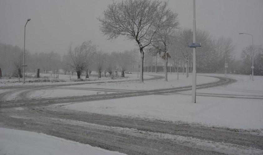 Het is afwachten hoeveel sneeuw er vandaag gaat vallen.