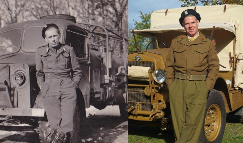 Koen (rechts) maakte een foto van zijn opa na