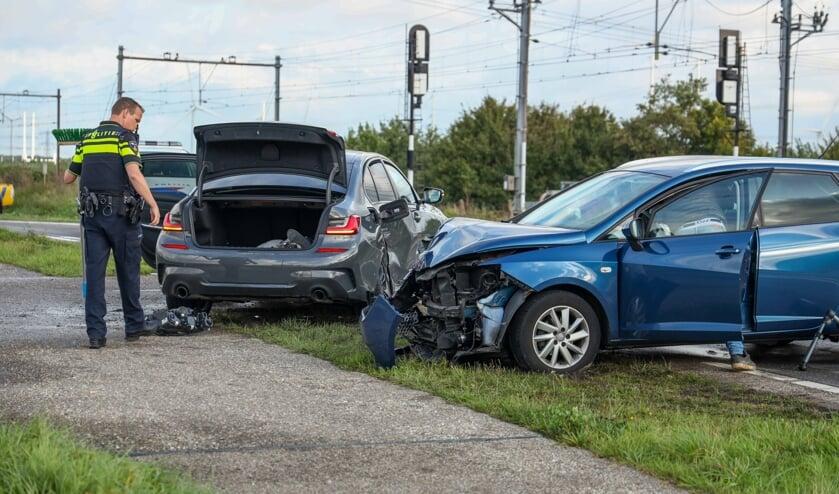 De auto's liepen veel schade op.