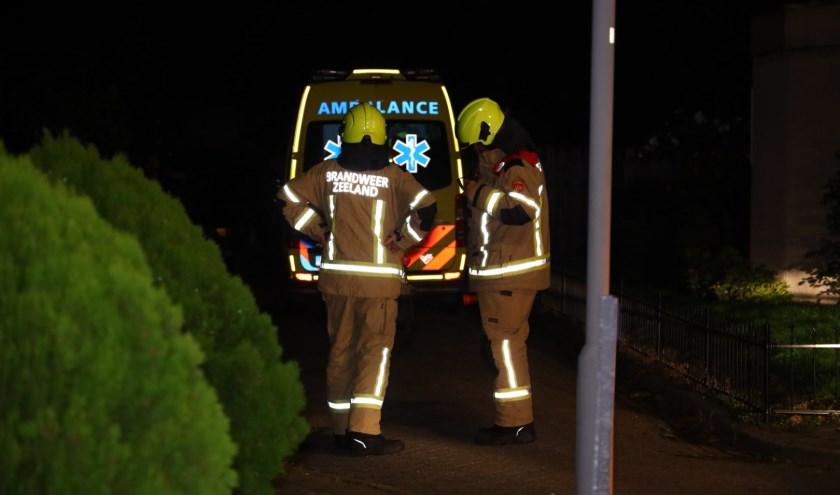 De brandweer en twee ambulances kwamen met spoed ter plekke.