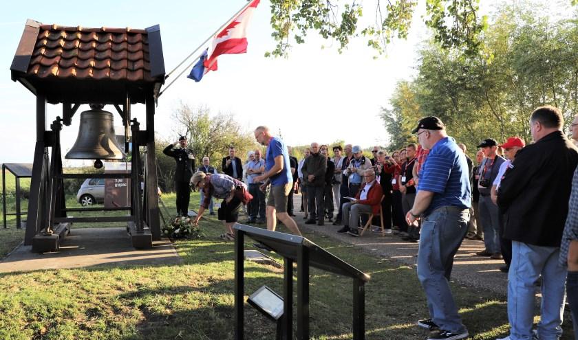 Bij het bevrijdingsmonument De Klok aan de Canadezenweg in Welberg vond afgelopen maand al een herdenkingsplechtigheid plaats.