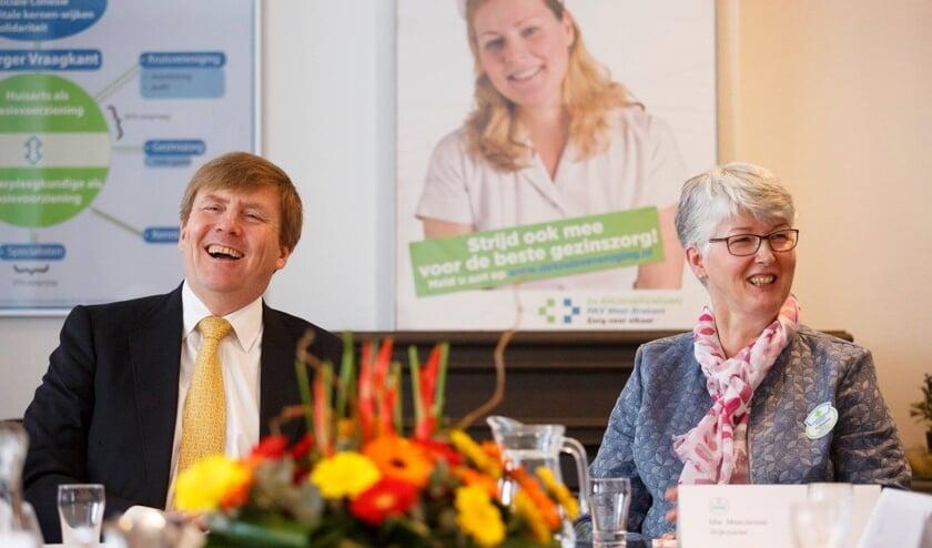 Op 16 maart 2016 bracht Koning Willem-Alexander een werkbezoek aan De Fendertshof in Fijnaart dat in het teken stond van de wijkzuster. Els Meeuwisse (rechts) sprak toen met de koning.
