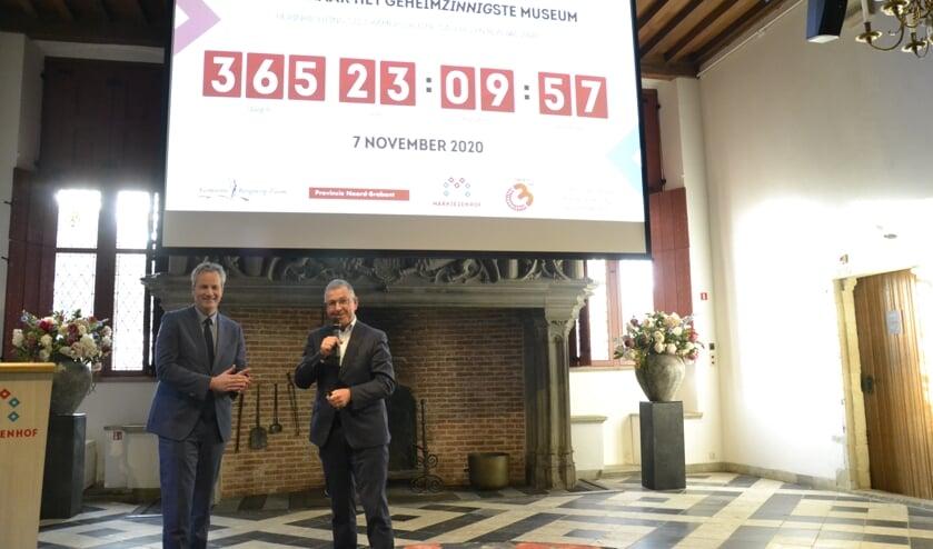 Wethouder Evert Weys en Cees Meijer gaven het startschot voor de herinrichting