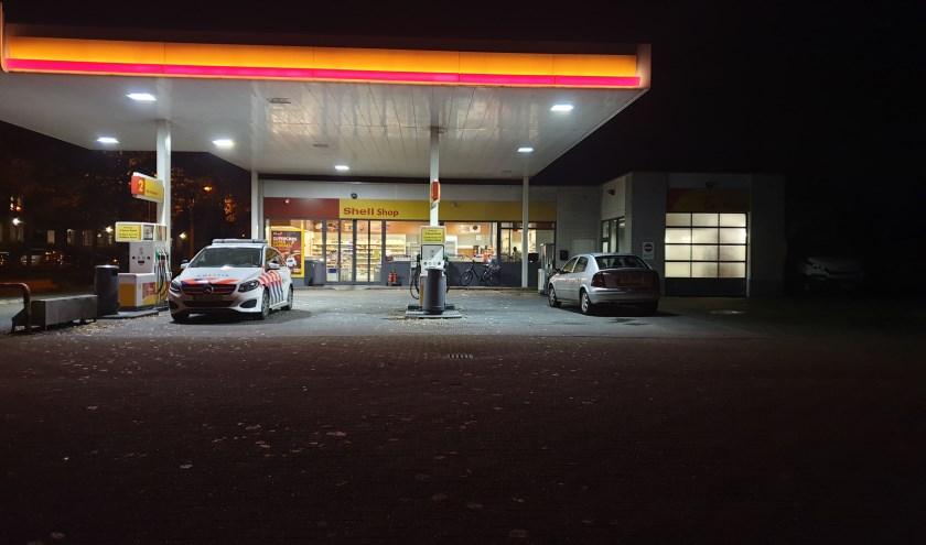 Het tankstation werd aan het begin van de avond overvallen.