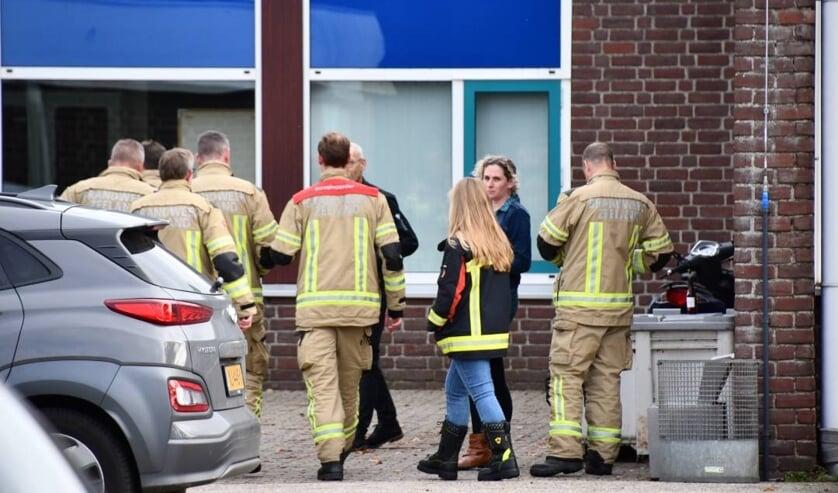 De brandweer kwam ook ter plekke.