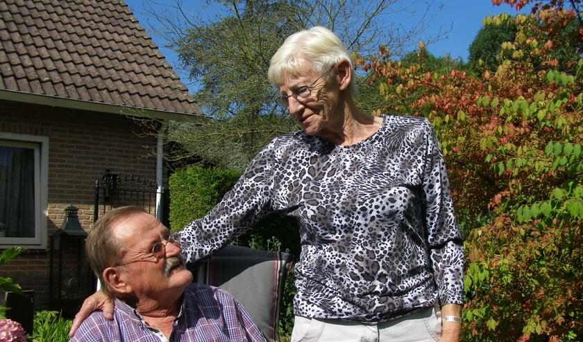 Piet van Dijk samen met zijn vrouw Gré.