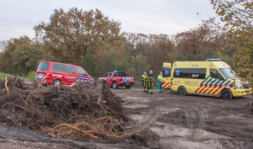 De ambulance en brandweer kwamen ter plekke.