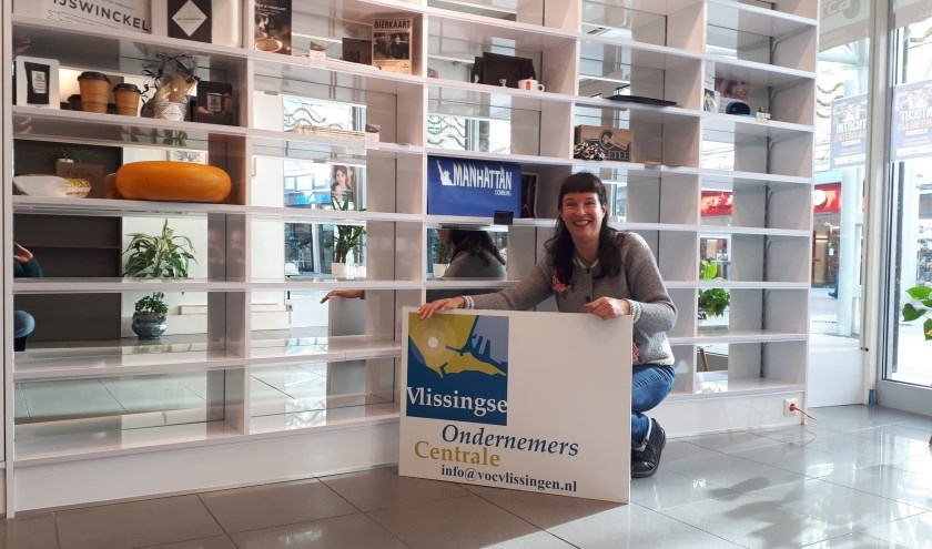 Jolanda van Boven, de nieuwe voorzitter van de VOC, in het kantoor van de ondernemersvereniging.