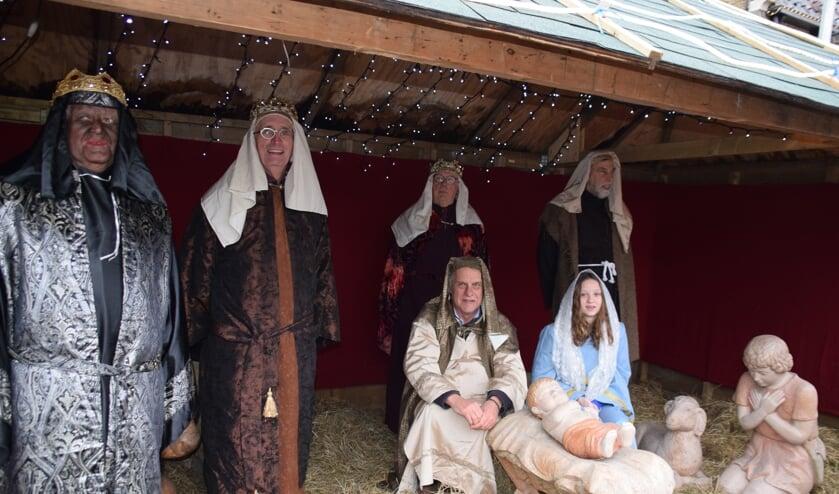 Levende kerststal op de Markt. FOTO STELLA MARIJNISSEN