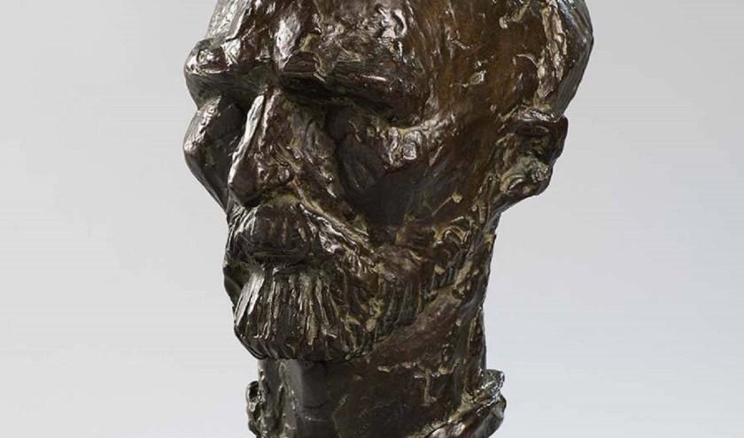 De door beeldhouwer André Schaller vervaardigde kop van Van Gogh.
