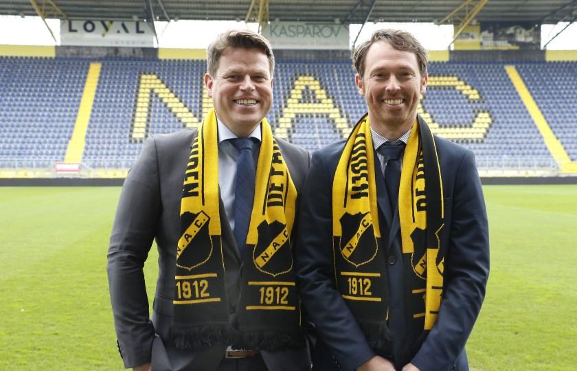 NAC presenteerde donderdag 28 maart de nieuwe directie. Algemeen directeur Luuc Eisenga en technisch directeur Tom Van Den Abbeele