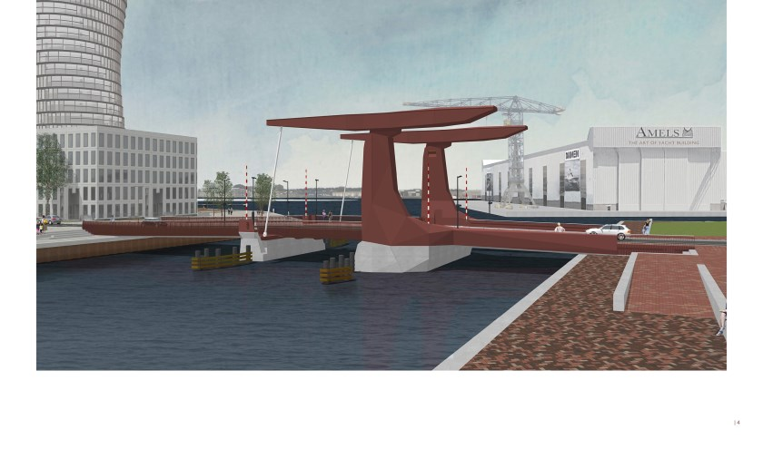 Een impressie van de nieuwe Dokbrug.