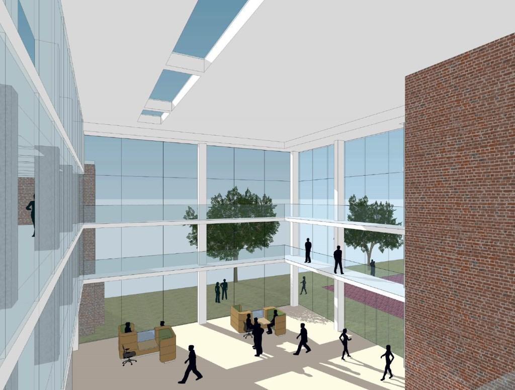 Het binnenplein wordt uitgebouwd tot atrium  © Internetbode