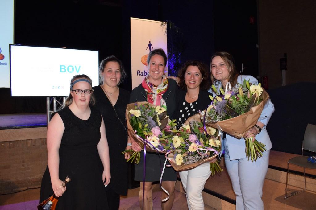 De finalisten voor de BOV trofee: Brownies & Downies, Miss Troubleshooter en Babice van de Ven van Praxis. FOTO STELLA MARIJNISSEN  © Internetbode