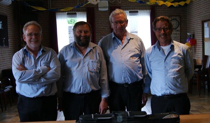 Van links naar rechts Cor Dogge, Jack de Mooij, Karel van de Branden en Janus Dam.