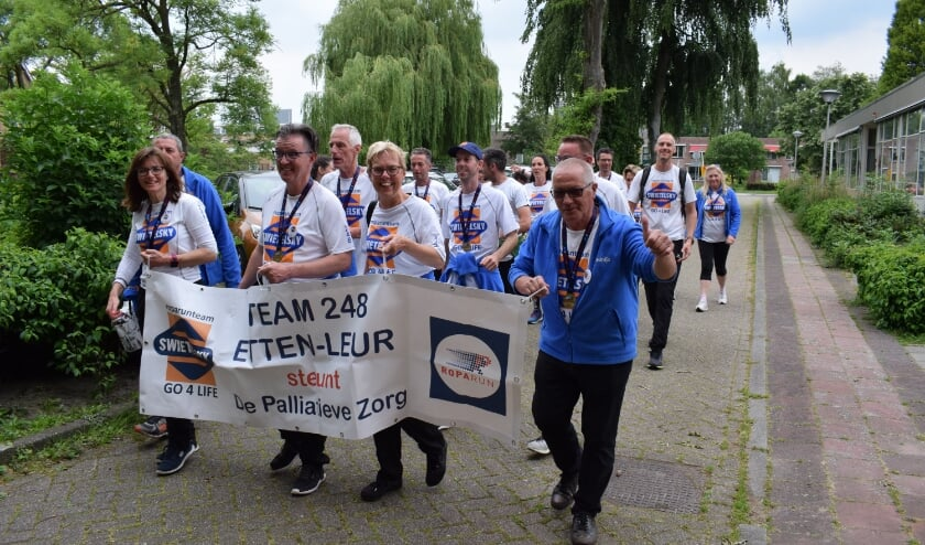 Team 248 Go4Life over de Leurse eindstreep in 2019.