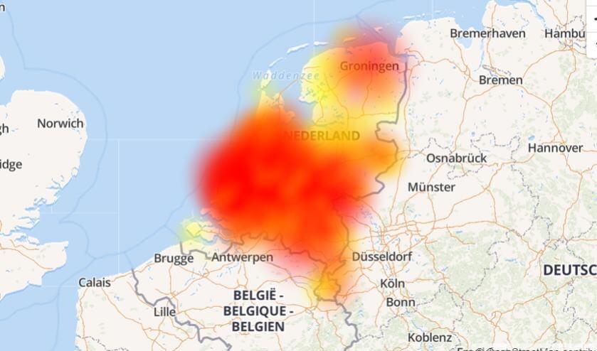 Alle storingen in Nederland.