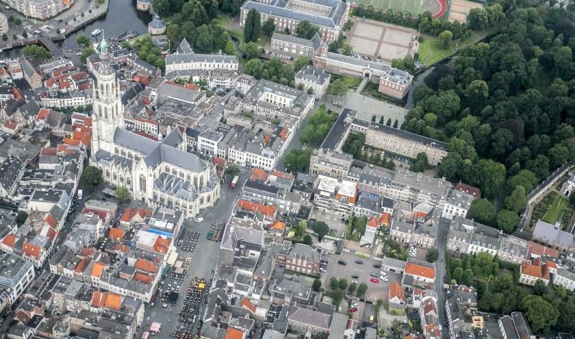 Het centrum van Breda is al eeuwen nagenoeg hetzelfde.