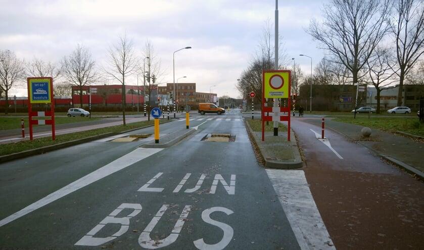 De noordelijke rondweg, kruising Edisonstraat - Biesdonkweg.