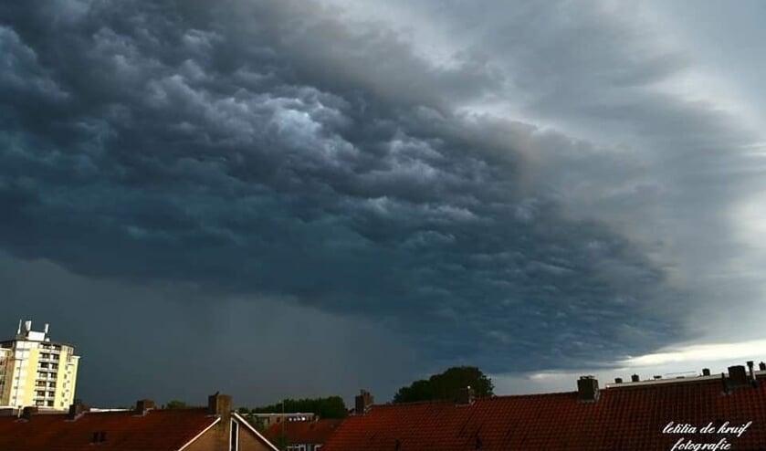 Een lezersfoto van het noodweer vanochtend