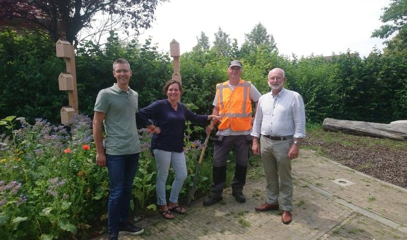Van links naar recht Joost Krijger, Anja Geldof, Leo Roggeband en Jan Harmsen.