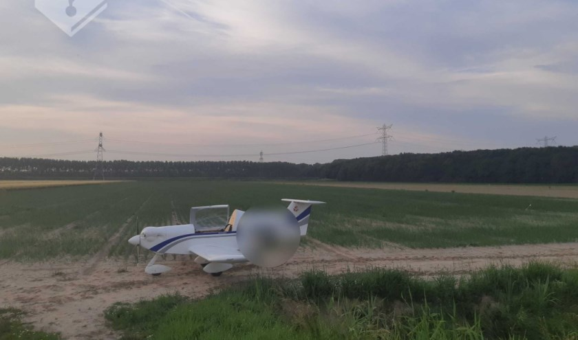 Het vliegtuigje kon veilig landen.