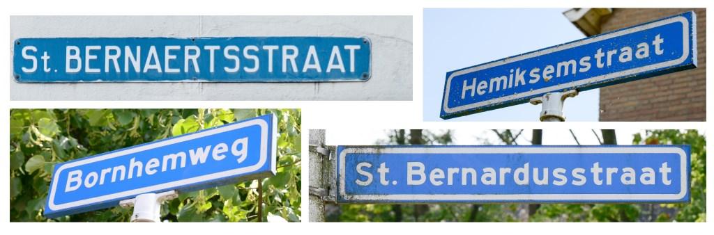 Niet alleen in de kerken maar ook in de vele straatnamen in Hoeven en Oudenbosch heeft de Bernardusabdij sporen nagelaten. FOTO BEA HOEKS-DE LAAT Foto: Bea Hoeks-de Laat © Internetbode
