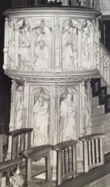 Preekstoel St. Martinuskerk. FOTO RINIE MAAS