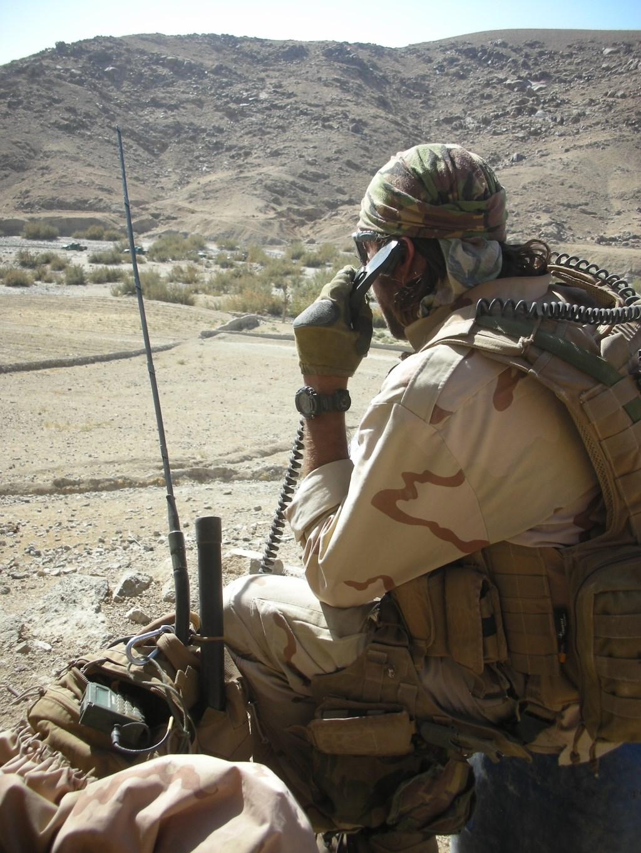Jeroen op missie in Afghanistan.  © Internetbode