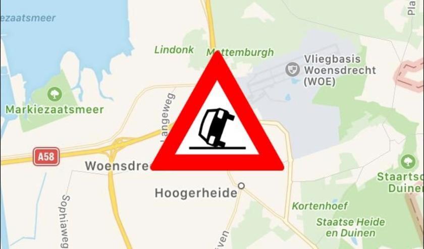 Er staat twintig minuten file op de A4 bij Hoogerheide.