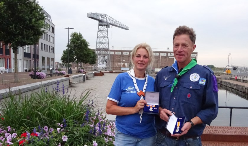Elna en Wouter Dert zijn Lid in de Orde van Oranje-Nassau geworden door hun vele inspanningen voor de scouting in Zeeland.