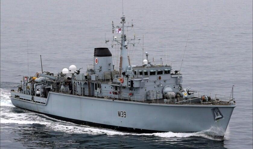Het Britse schip.