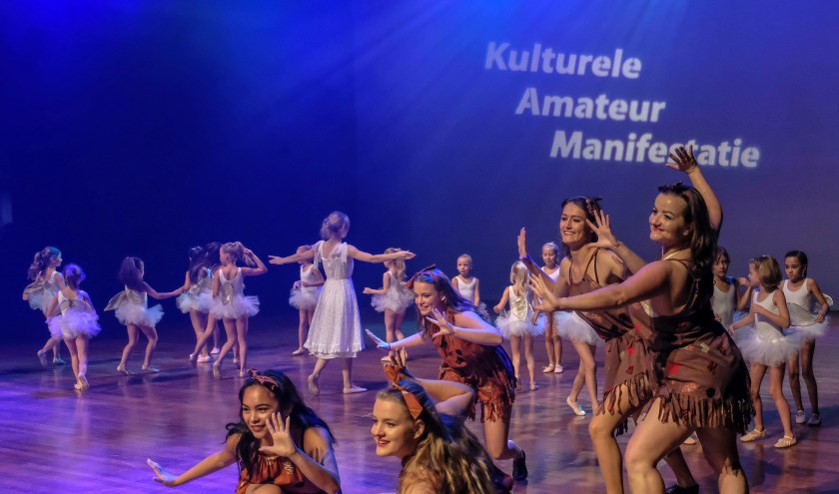 Een spectaculair dansoptreden bij KAM Breda 2018. (FOTO FRANK VAN DER TEEMS)