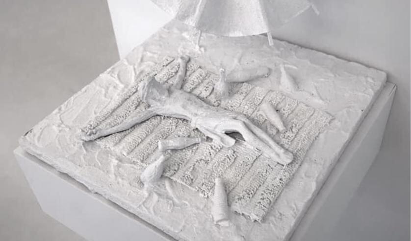 Een van de werken van Pieter Jonker, te zien op de tentoonstelling