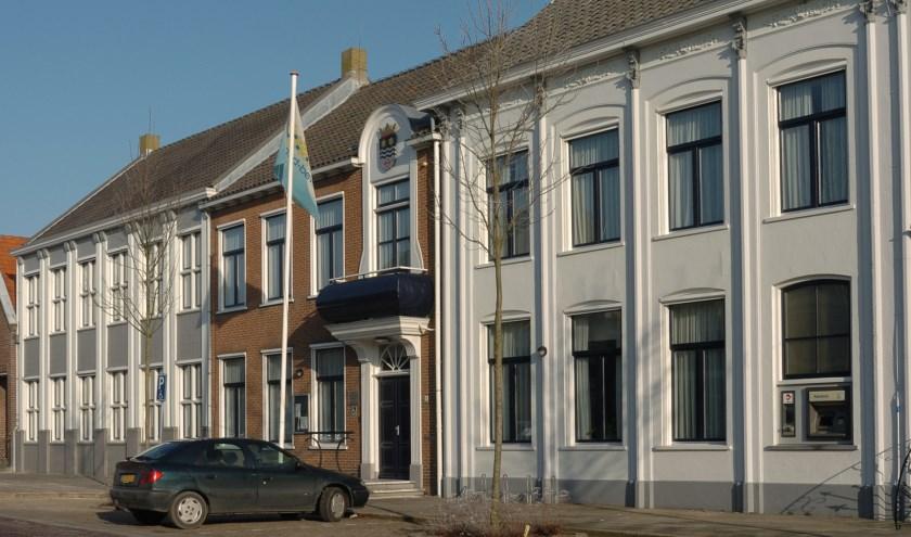 Het gemeentehuis van Noord-Beveland in Wissenkerke.